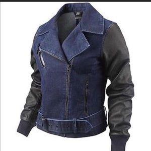 Nike Denim and Leather Jacket